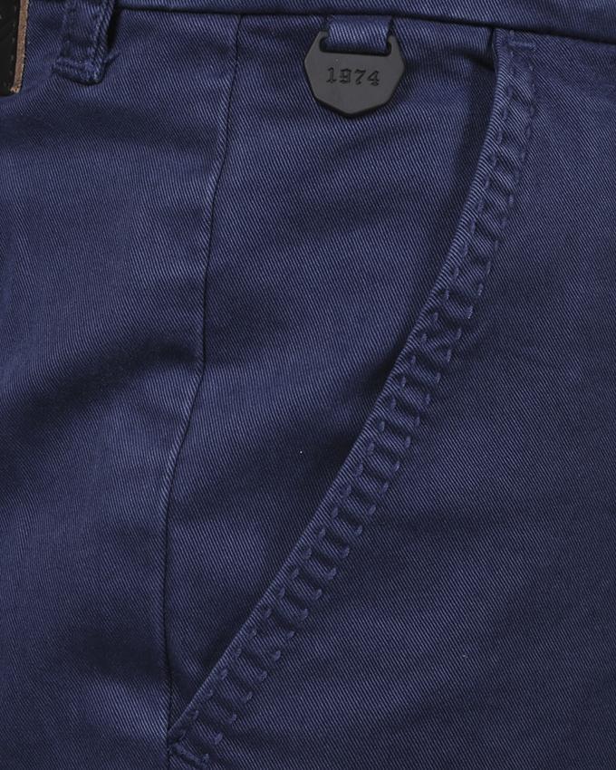 Navy Blue Cotton Tanjim Twill Pant For Men