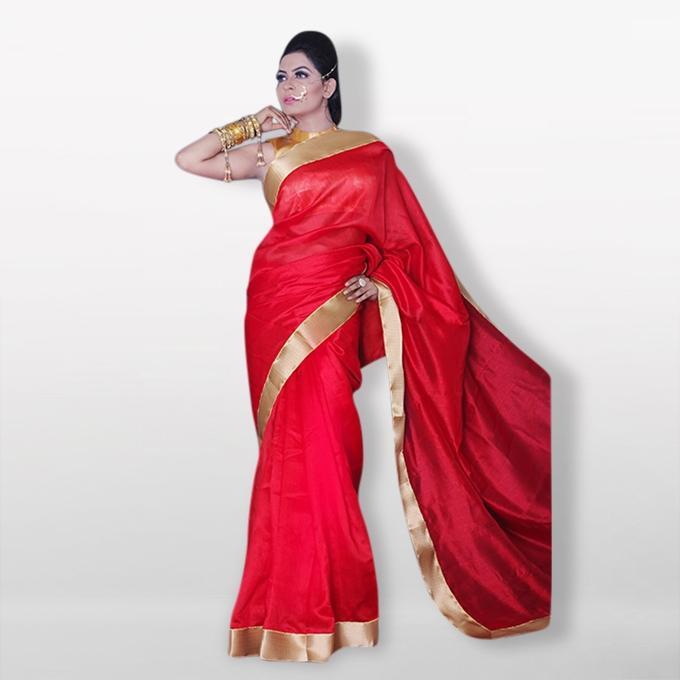 Red Silk Sharee For Women