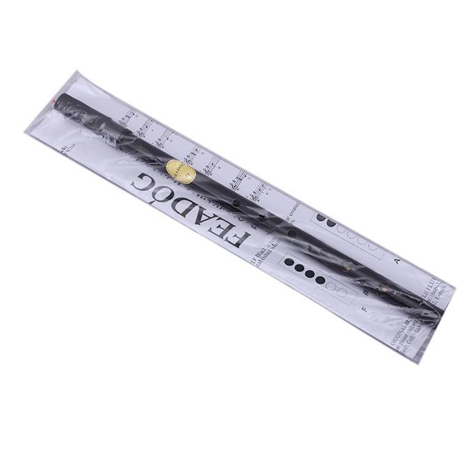 Scal D Nickel Feadog Black High D Whistle - Black