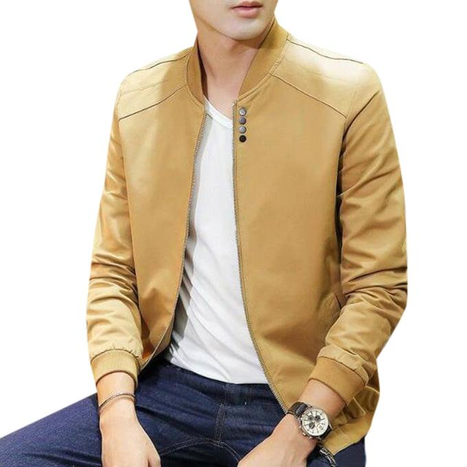 Sandy Brown Artificial Soft Leather Jacket For Men Buy Sell Online