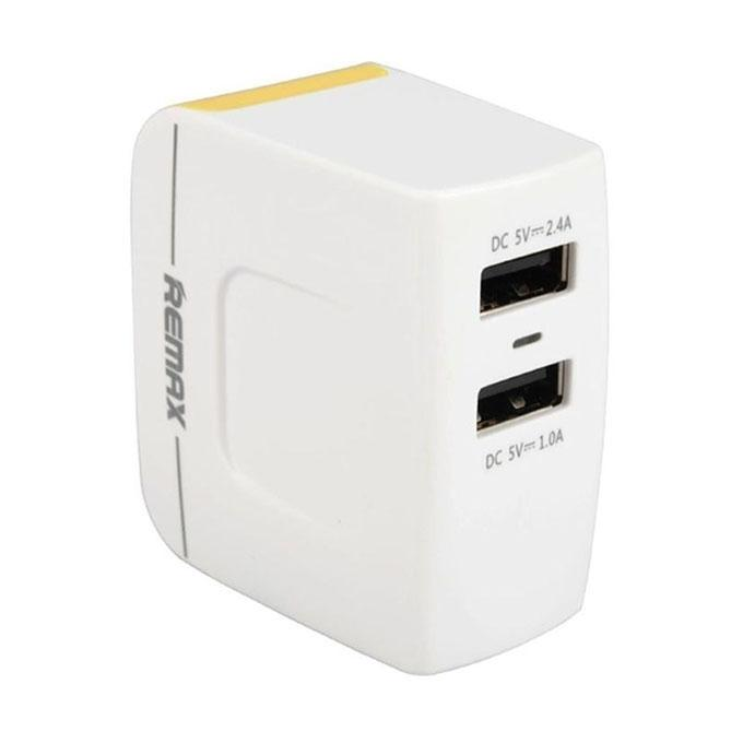 RMT 6188 - 3.4A Dual USB Port Travel Charger - White