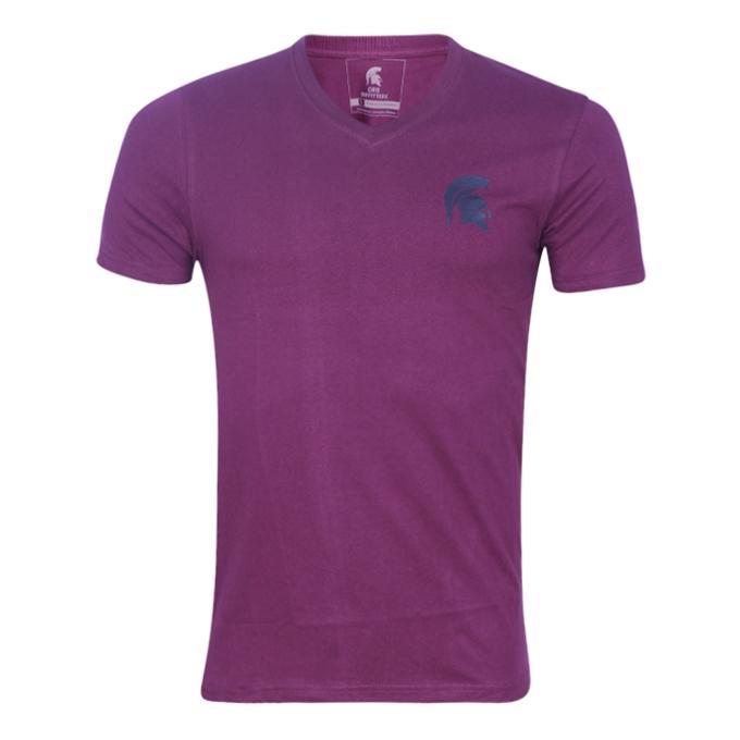 Magenta Cotton T-Shirt For Men
