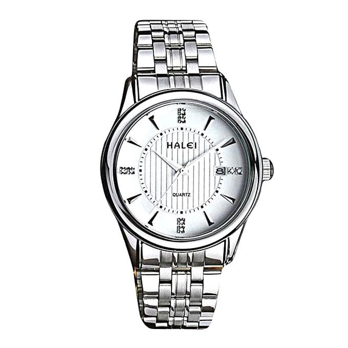Stainless Steel Analog Watch for Men - Silver