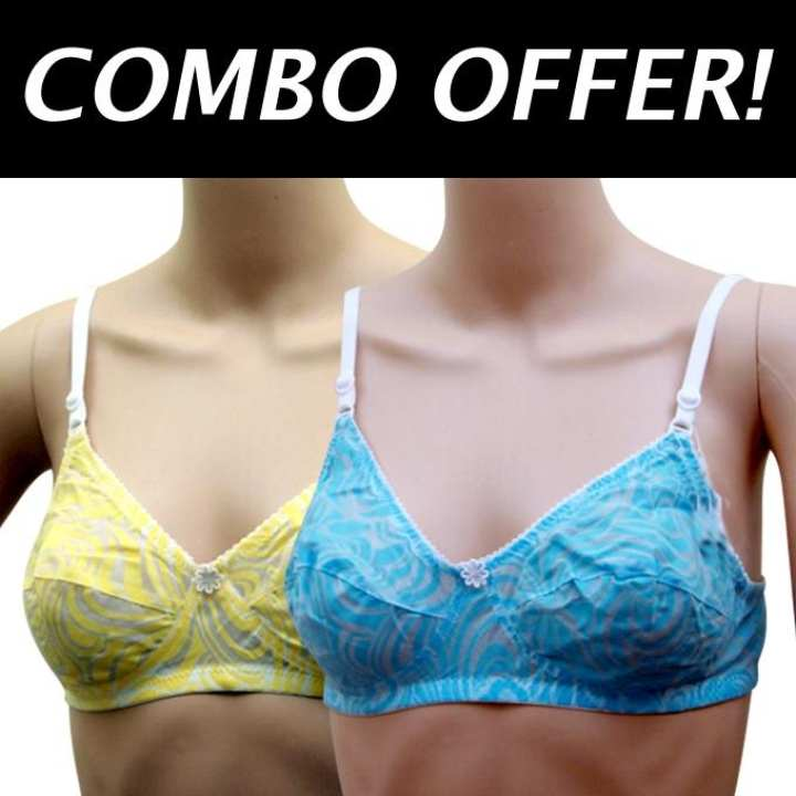 Pack of 2 Cotton Bra For Women