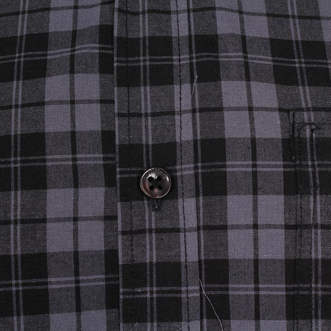 Black and Ash Cotton Casual Shirt for Men