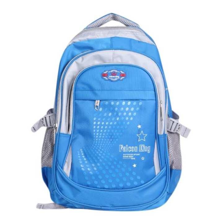 Sky Blue Polystar Backpack For Boys