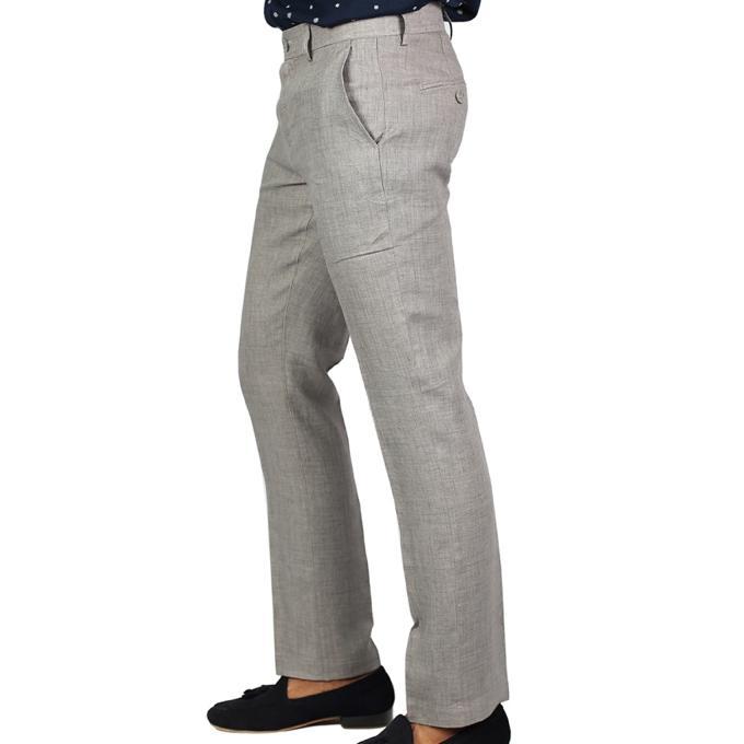 Light Grey Cotton Formal Pant For Men