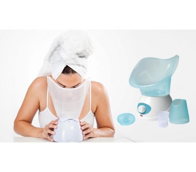 Facial Sauna With Steam Inhaler - Sky Blue and White