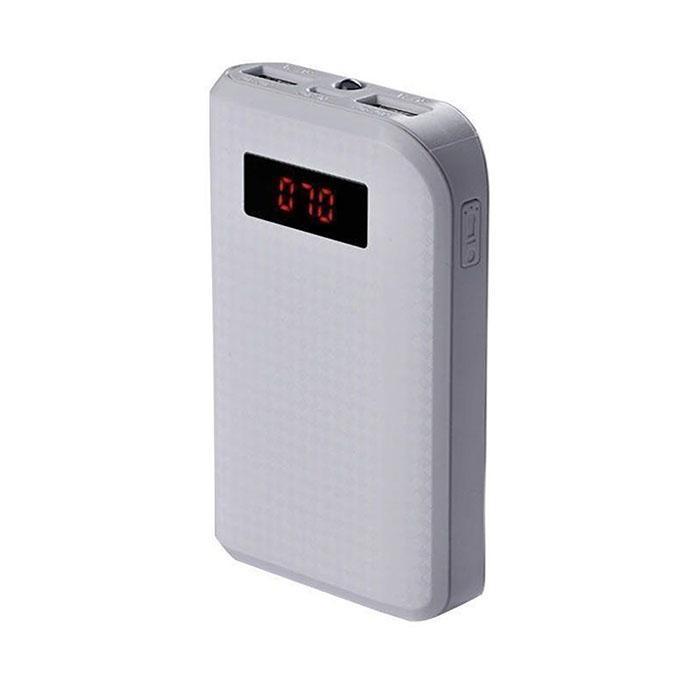 Dual-USB Power Bank 10000mAh - White