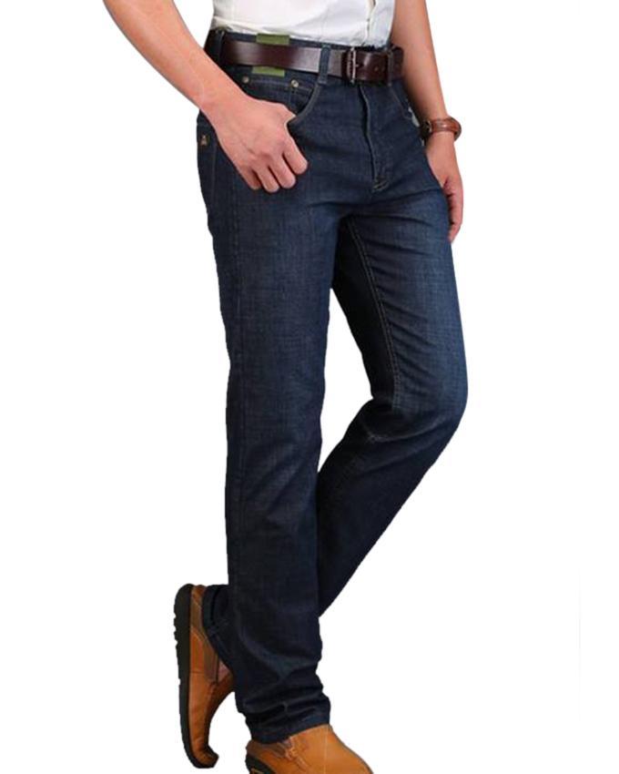 Navy Blue Denim Jeans For Men