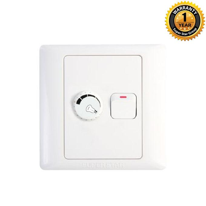 Lotus Series Lotus Light Dimmer With Switch - White