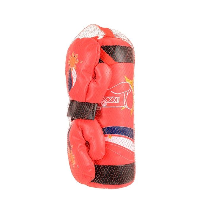 Kids Boxing Bag With Gloves - Red
