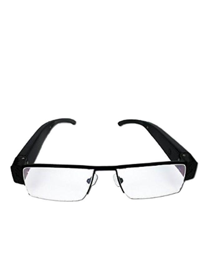 5 Megapixel FULL HD 1080p Spy Camera Eyeglasses - Black