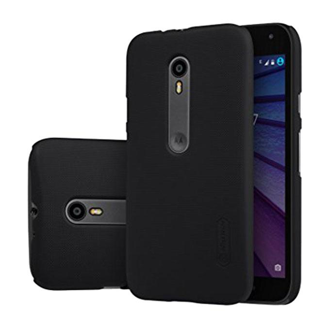 Super Frosted Shield Back Cover for MOTO G3 (3rd Gen)XT1550 - Black