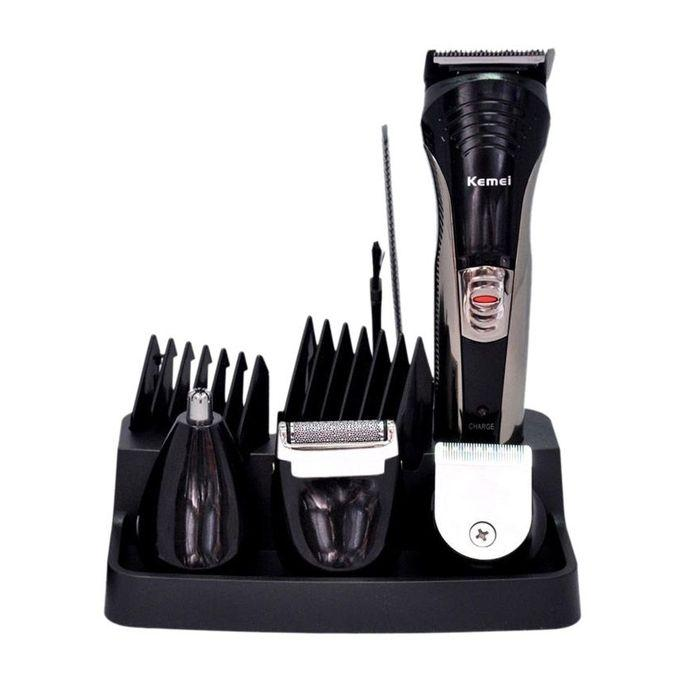 Km-590A 7-In-1 Multi-Function Rechargeable Trimmer - Black