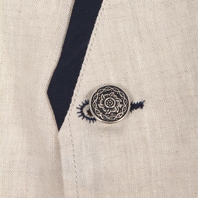 Lavender Blush Cotton Casual Ethnic Vest for Men