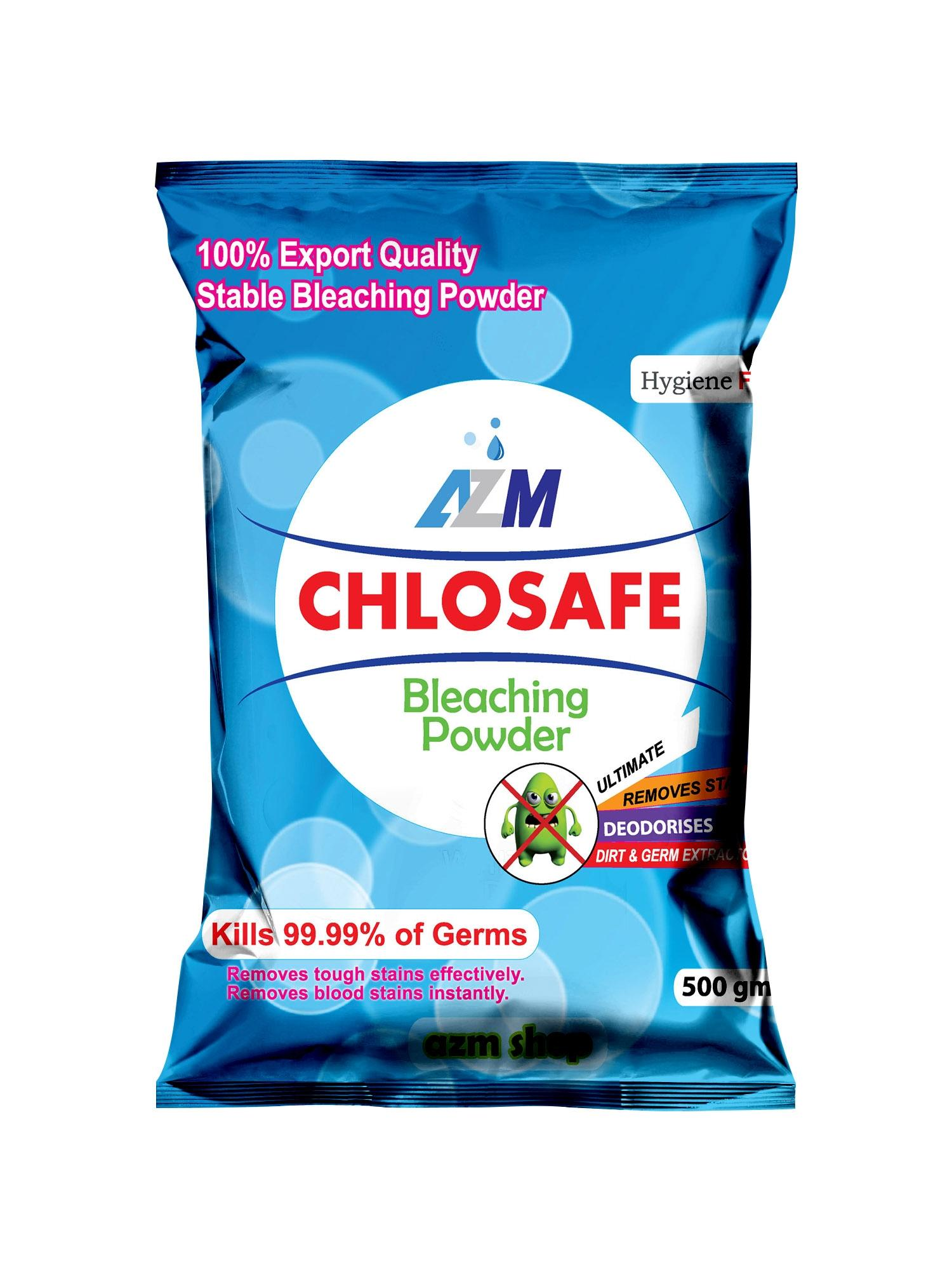 Chlosafe Stable Bleaching Powder Packet - 500 gm