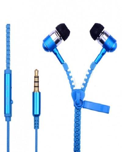 Zipper Earphone - Blue