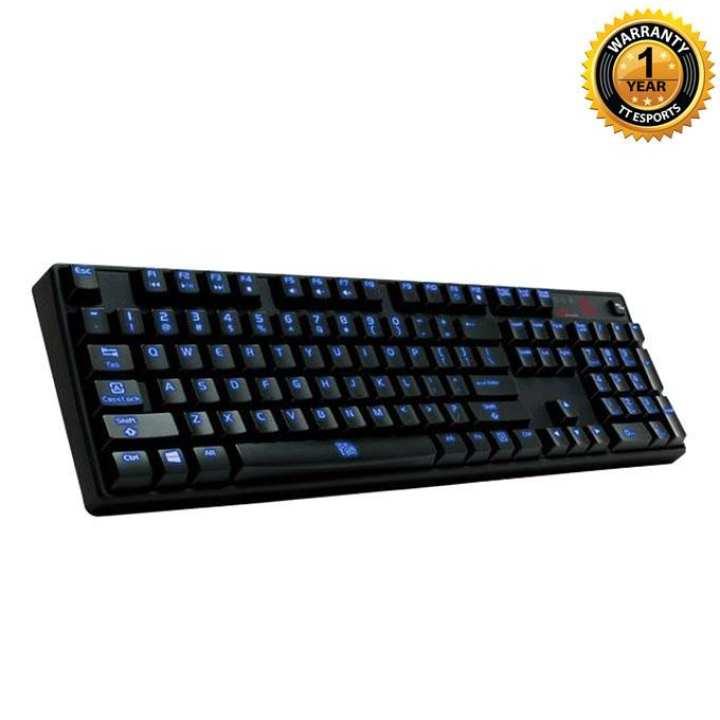 Poseidon Z Illuminated Blue Switch Edition Gaming Keyboard - Black