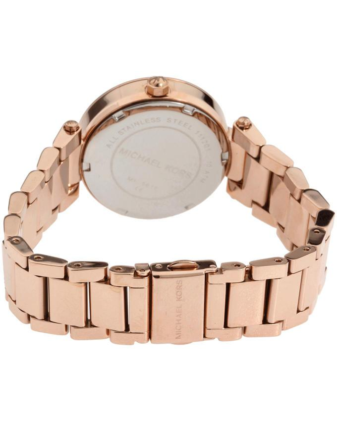 Stainless Steel MK5616 Parker Chronograph Watch For Women - Rose Gold