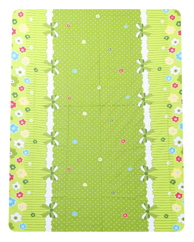 Cotton Printed Bed Sheet - Green