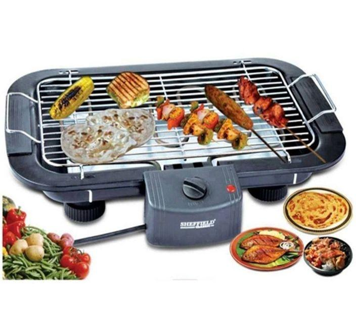 3-In-1 Smokeless Electric BBQ Grill – Black