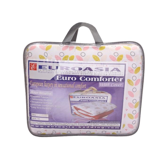 "Euro Comforter With Cover (High Quality Pedding with Standard Fabrics) - 90""x78"""