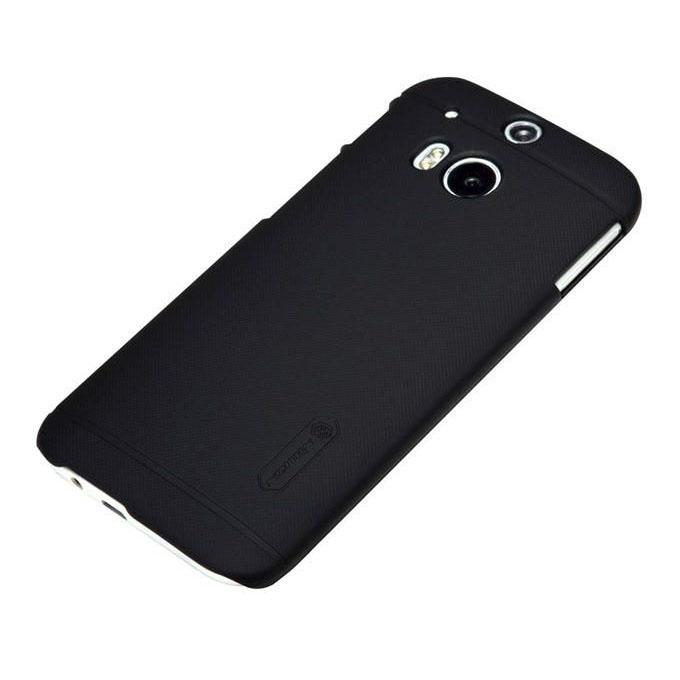 Super Frosted Shield Back Case For HTC One M9 - Black
