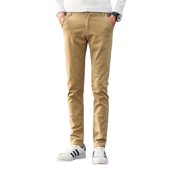 Brown Twill Gabardine Pant For Men