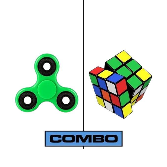 Fidget Spinner Stress Reduce Toy – Green Combo