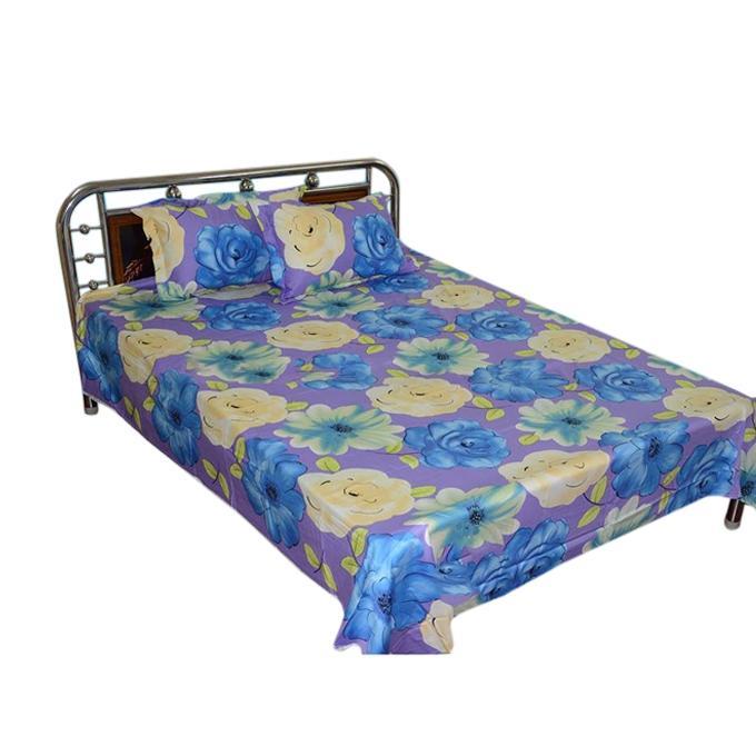 Cotton King Size Bed Sheet Set - 7.5' x 8.25' - Multicolor