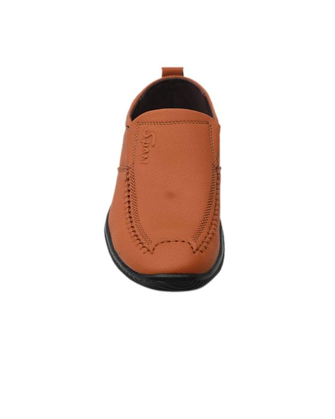 Men's PU Loafer Shoe - Chocolate