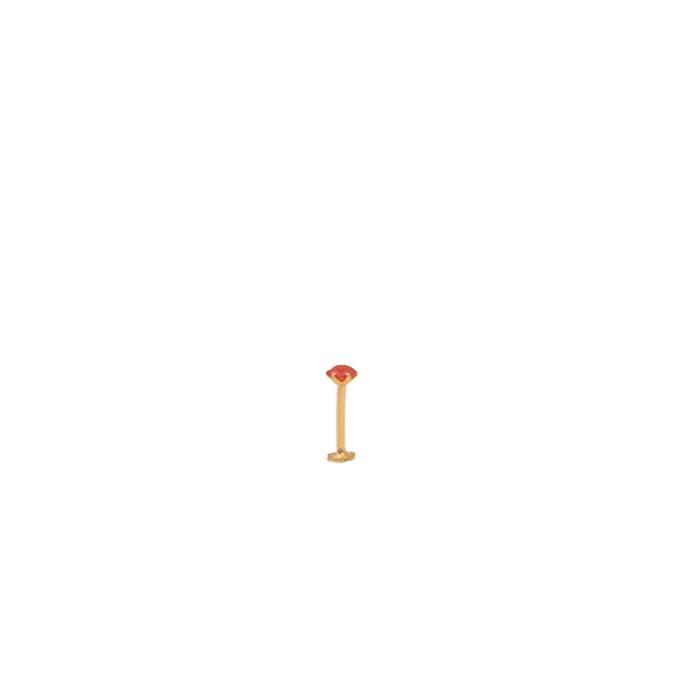 Gold Nosepin Orange Single Stone