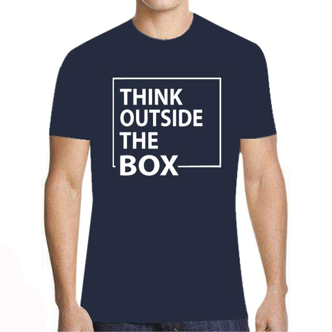 Navy Cotton T-Shirt for Men