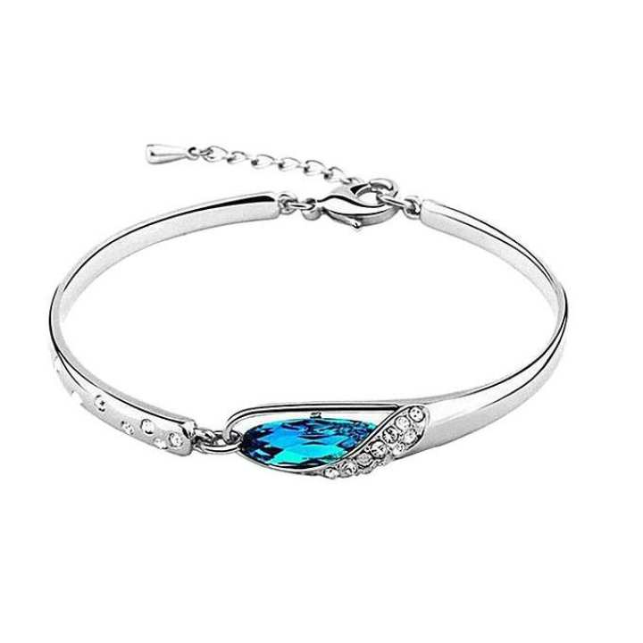Rose Gold Crystal Bracelet for Women