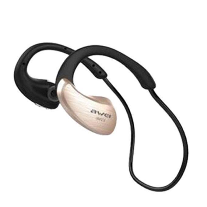 A885BL - Bluetooth Earphone - Black and Golden