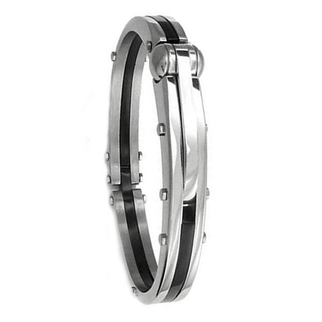 Silver Stainless Steel Bracelet For Men - Silver