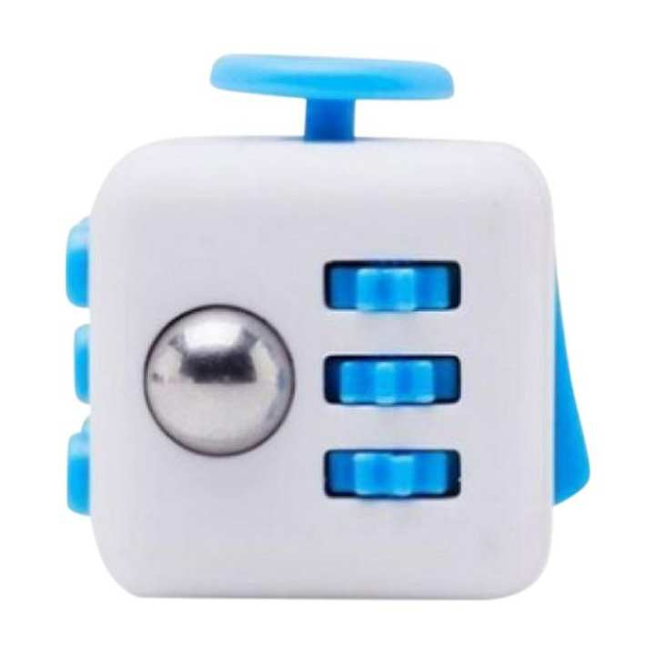 Fidget Cube Relieves Stress & Anxiety - Blue & White