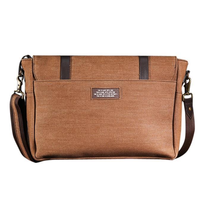 Sepia Talisman Messenger Bag For Men