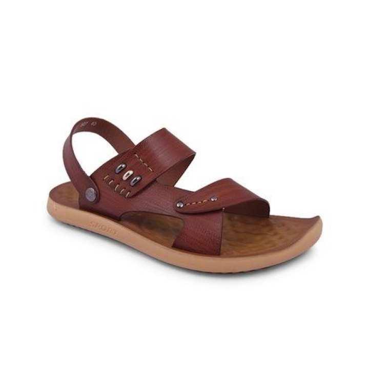 PU Sandal For Men - Brown