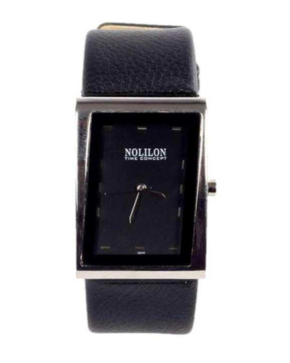 Artificial Leather  Analog Watch for Men - Black