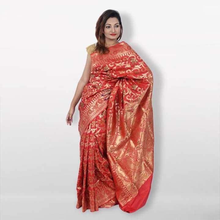 Red Reshmi Silk  Mirpur jongla Katan  For Women