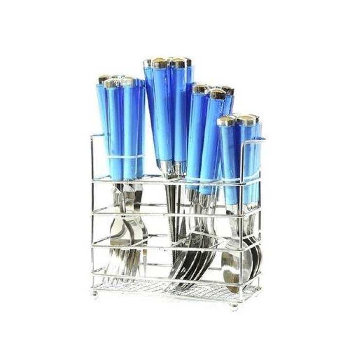 24 Piece Spoon Set - Blue