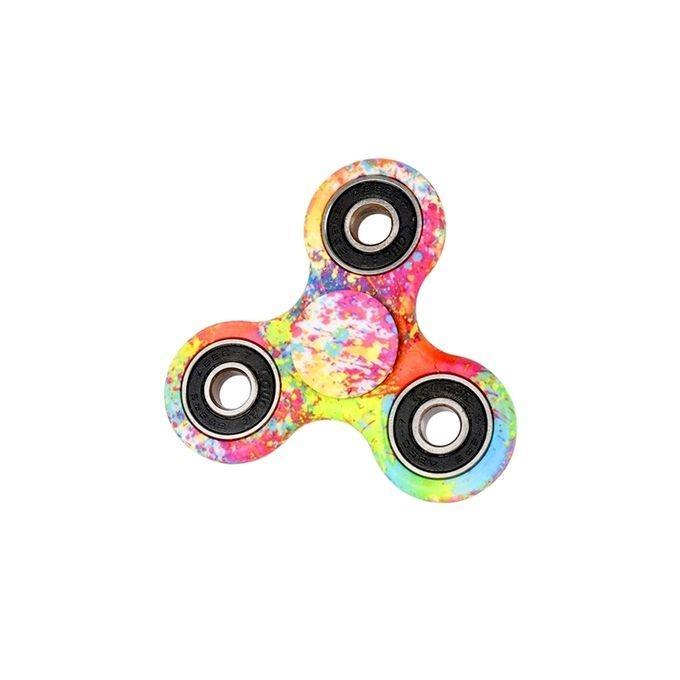 EDC Printed Tri-Spinner Fidget Hand Finger Spinner Stress Reducer Toy – Multicolor