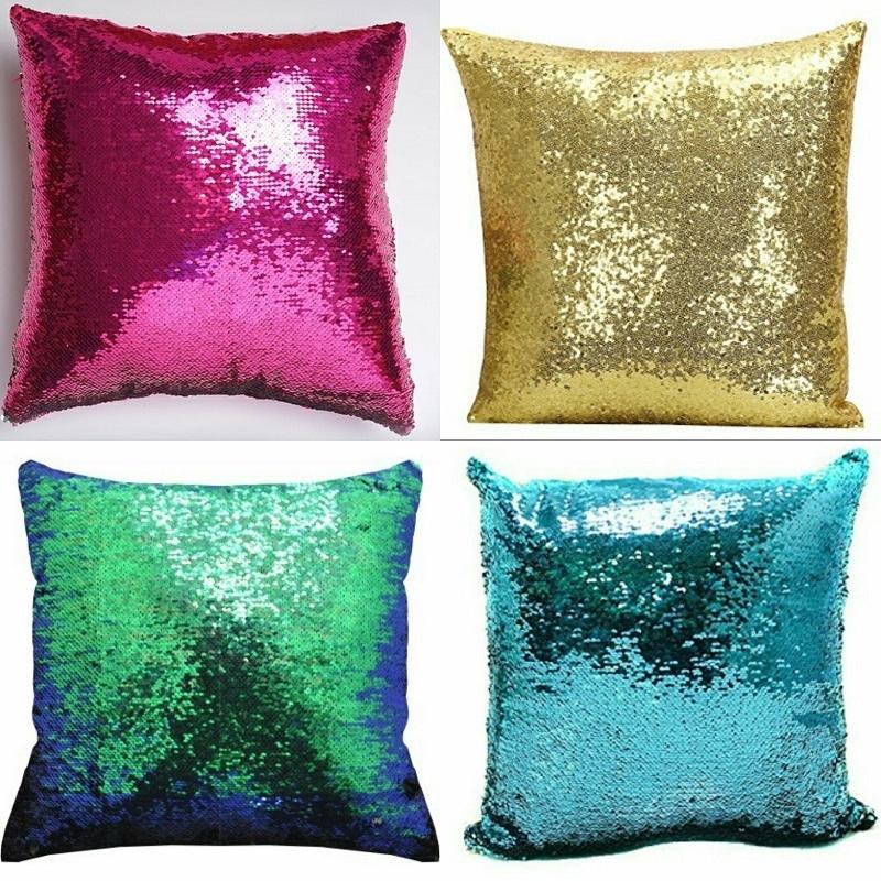 Sequin Mermaid Pillow Combo of 4 Pieces