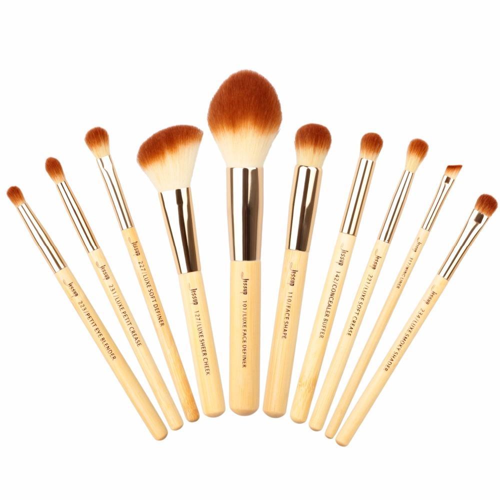 T143 10 PCs Bamboo Series Brush Set - Golden