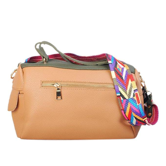 Beige PU Leather Hand Bag For Women