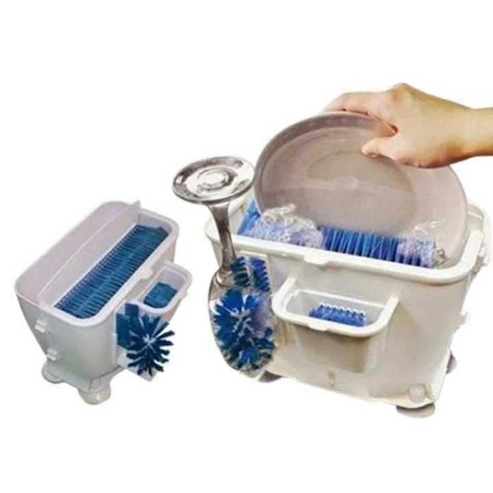 Wash n Bright Easy Dishwasher - White & Blue