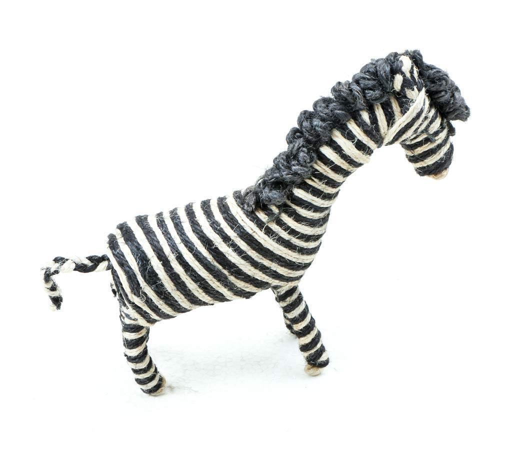 Child Friendly Handmade Zabra Shaped Toy For Kids