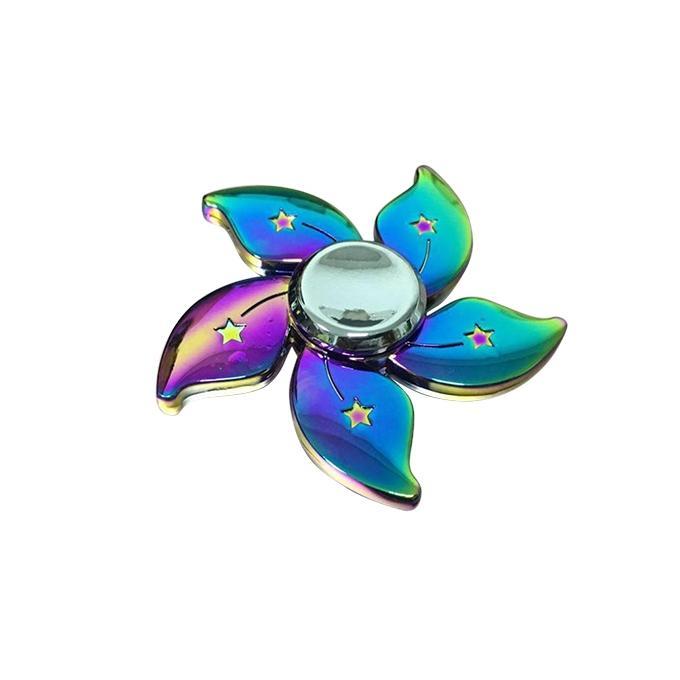 Flower Rainbow Metal Fidget Spinner